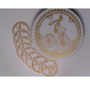 Oval Car Stickers